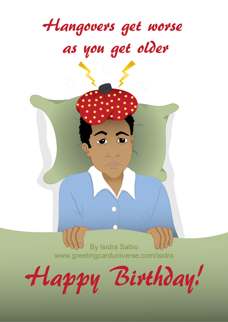 Humorous birthday card for men this funny birthday card remind us gcu artist isidra sabio afro latin publishing has designed over 140 greeting cards since sunday august kristyandbryce Image collections