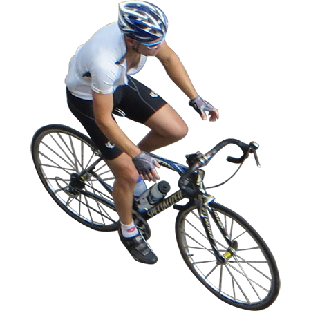 A cutout photo of cyclist riding and tempting fate by ...