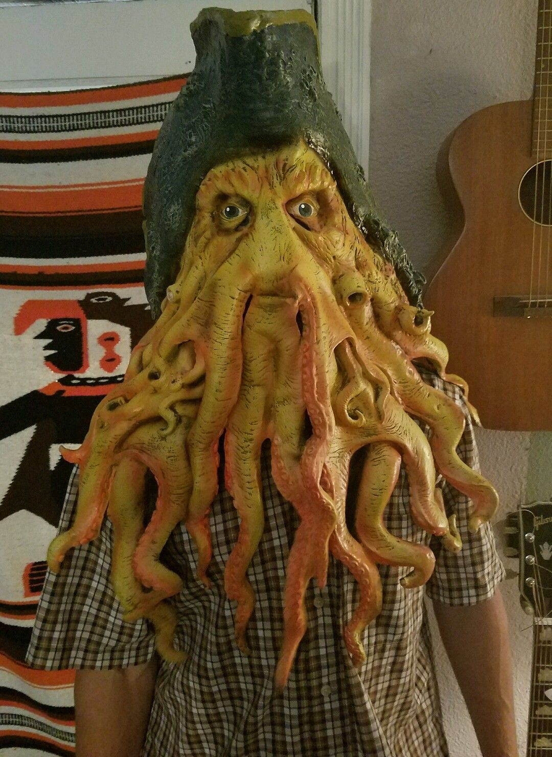 Full face Davy Jones Pirates Caribbean Costume 06 Disney Mask ...