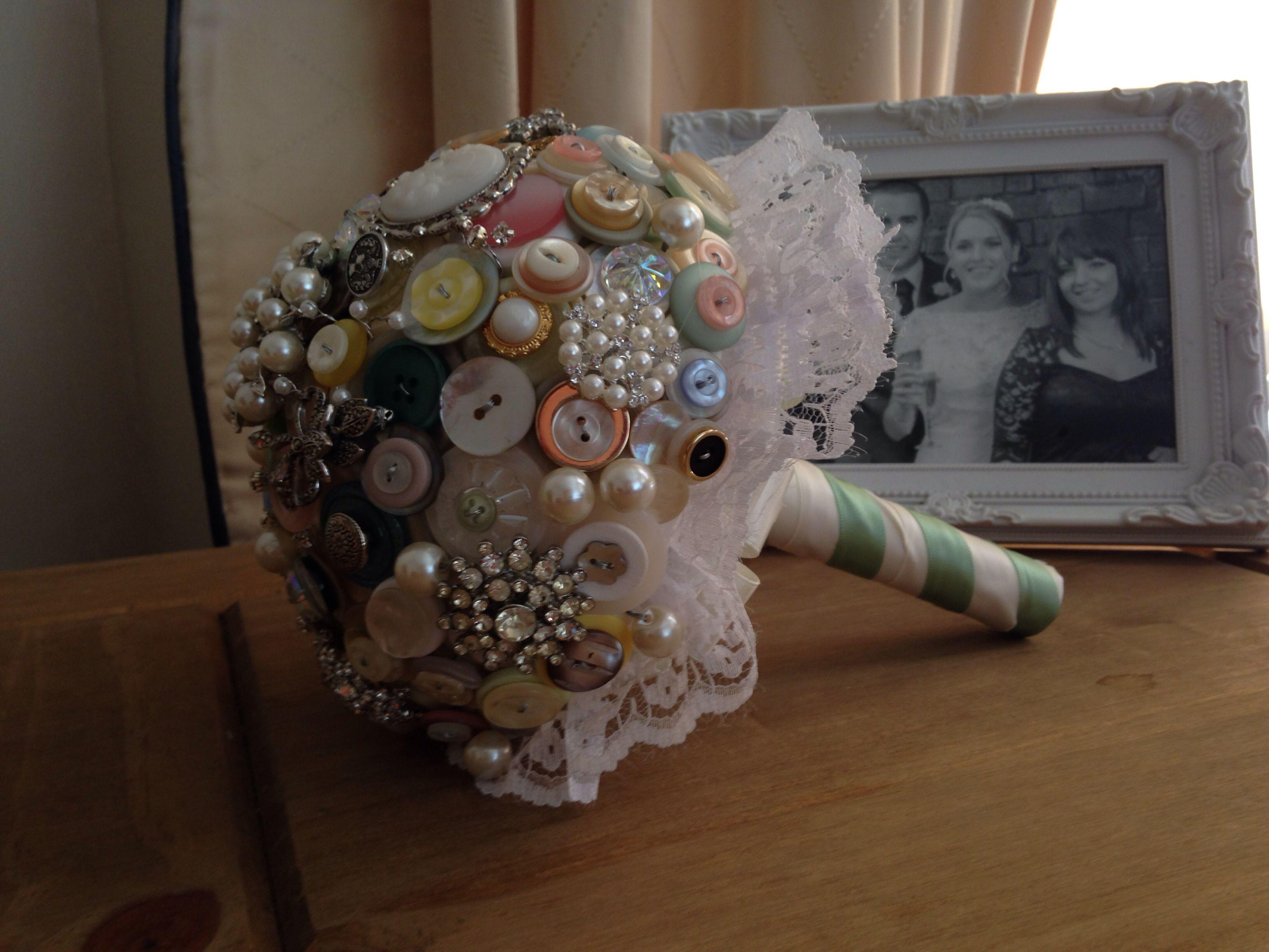 My homemade button bouquet! Xx