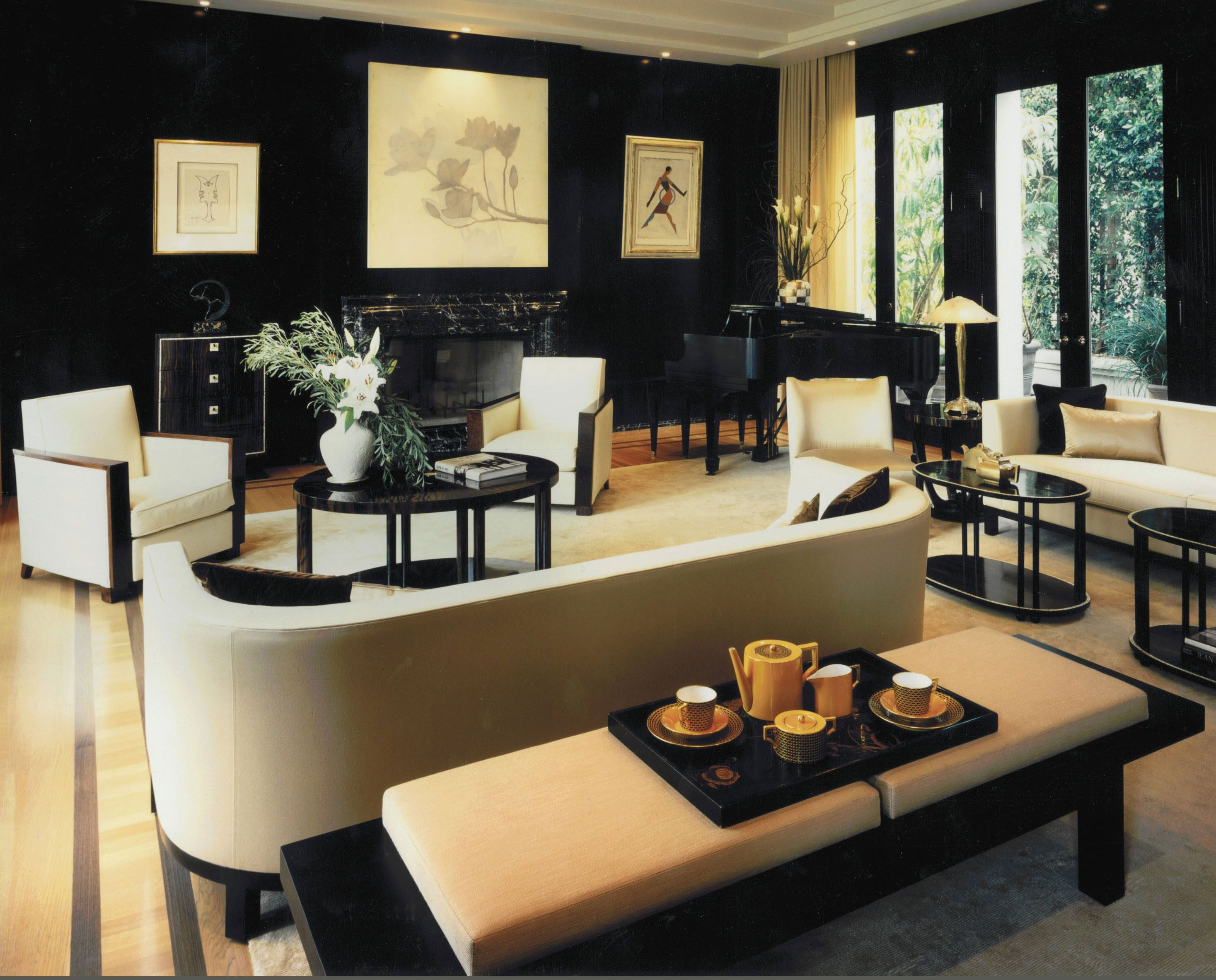 Art Nouveau Interior Design With Its Style Decor And Colors In
