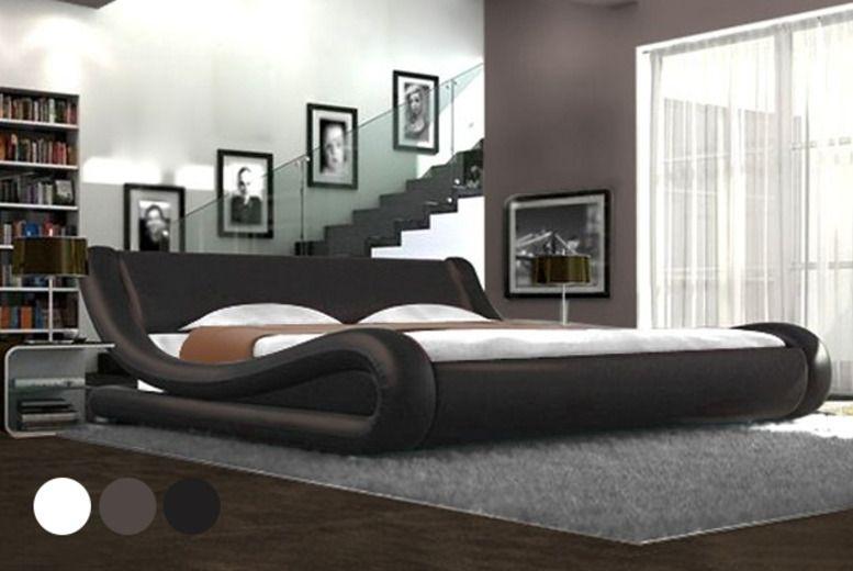 Bedroom Designer Free Designer Fauxleather Bed  Interior Goods  Pinterest