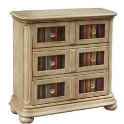 @Overstock - This hand painted distressed beige finish accent chest features three functional drawers for storage. The chest offers elegant shell shape hardware.http://www.overstock.com/Home-Garden/Hand-painted-Distressed-Beige-Accent-Chest/6771475/product.html?CID=214117 $431.99