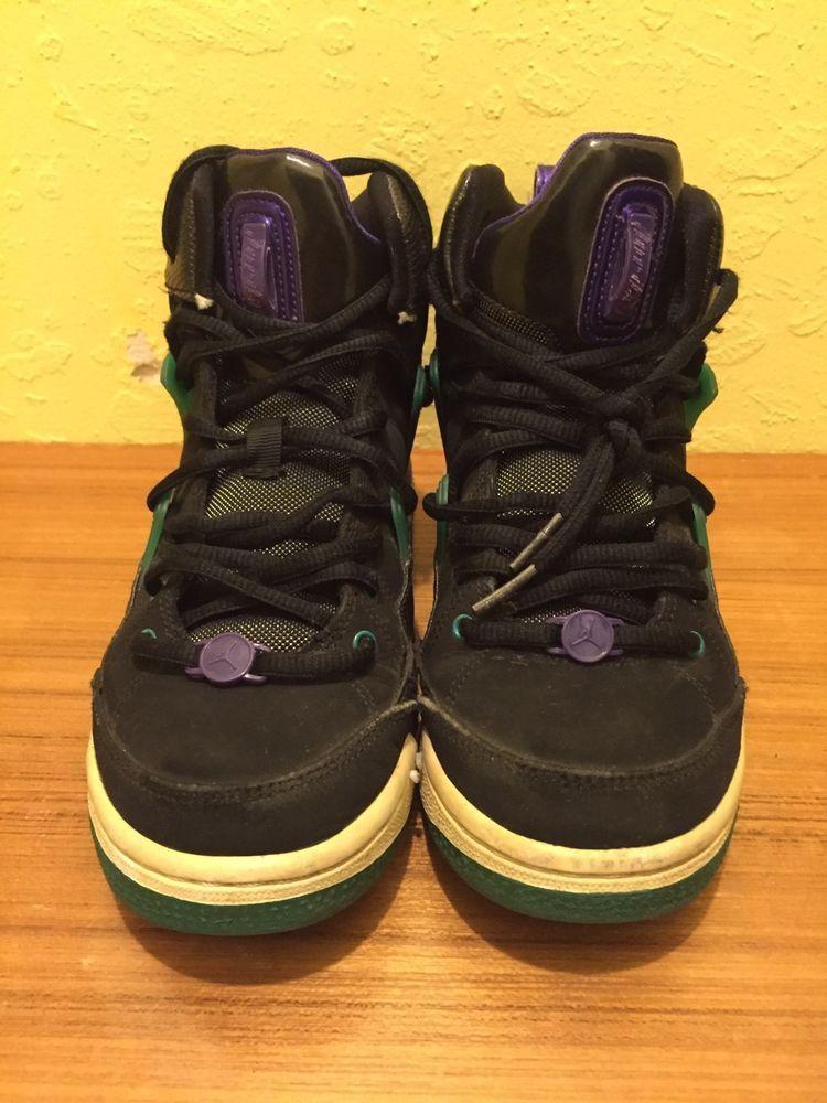 d48e44bd64082f Jordan Flight TR97 428827-008 US Size 5.5 Y Black White -Grape-Emerald  (eBay Link)
