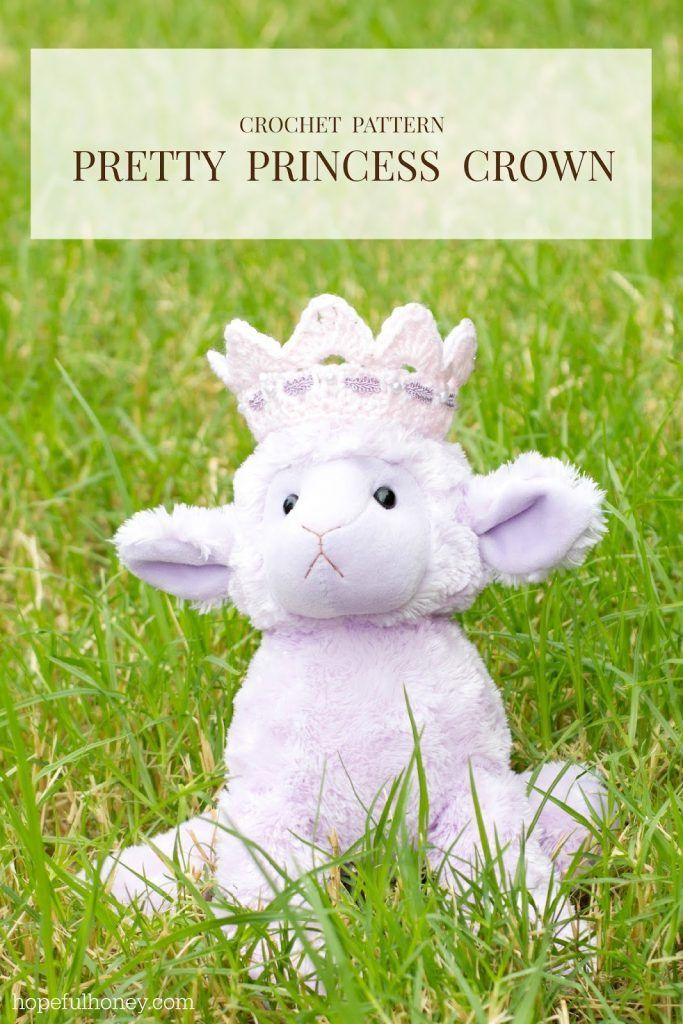 Pretty Princess Crown Crochet Pattern - Hopeful Honey #crownscrocheted Pretty Princess Crown Crochet Pattern #crownscrocheted