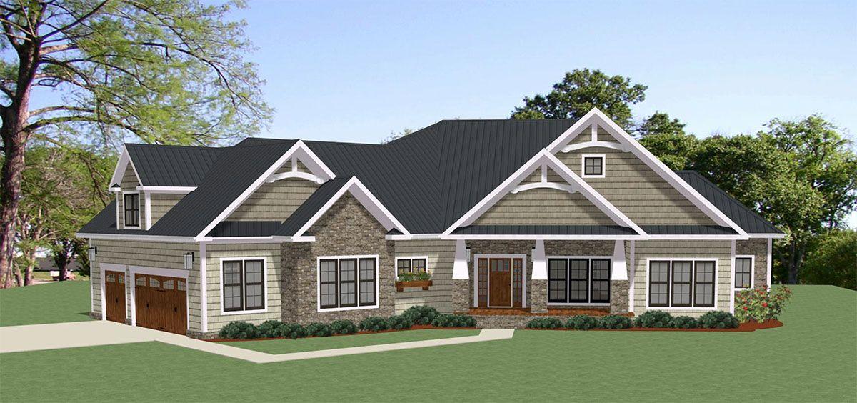 Plan Spacious Craftsman House Plan with Optional