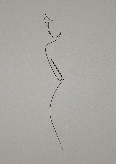 Simple Lines Dessin Art Dessin Comment Dessiner Un Portrait