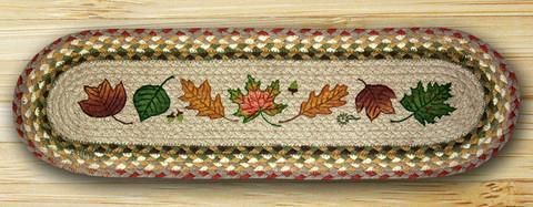 Best Details About Autumn Leaves Braided Jute Oval Stair Treads 400 x 300