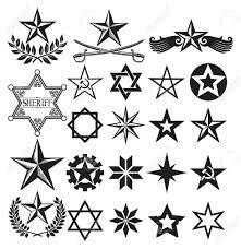 Nautischer Stern Blau Schwarz Tattoo Design 3