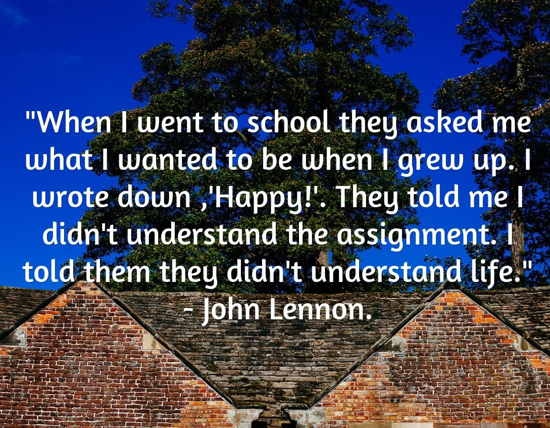 John Lenonn Life-Happiness Quote