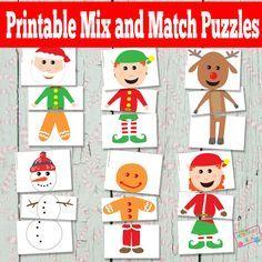 Puzzles de Navidad para imprimir - Bolsas Ocupado