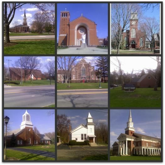 a collage of Worthington churches for Easter, a few years ago.