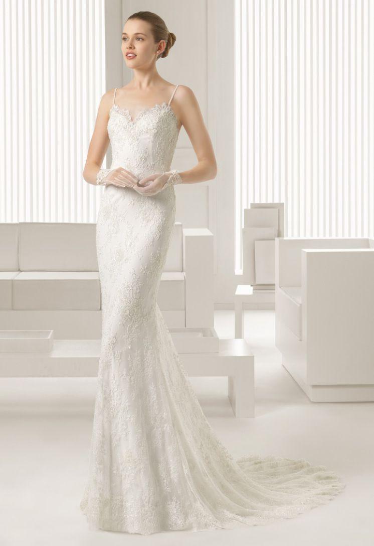 vestido de noiva de Rosa Clara com alsas finas coleçao 2015 modelo 81175 #casarcomgosto
