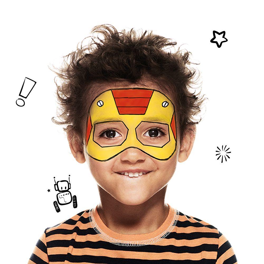 Cómo pintar una cara de superhéroe duro como hierro? Este diseño ...