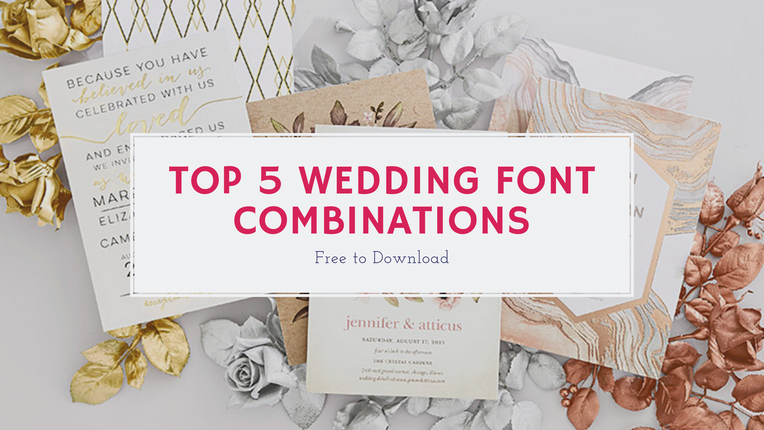 TOP 5 WEDDING FONT COMBINATIONS Wedding fonts, Save the