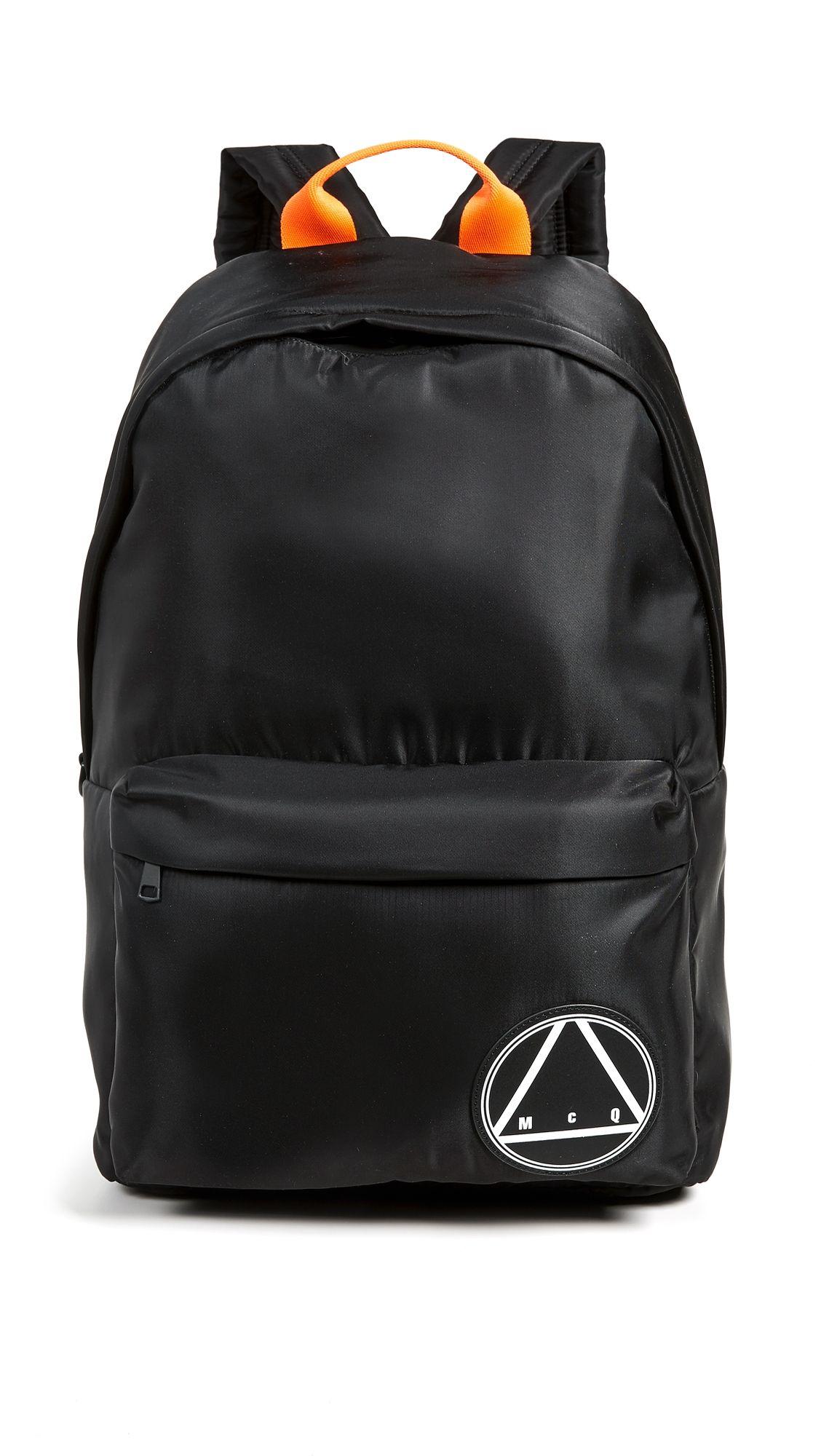 Alexander Mcqueen By Patch Backpack mcqbyalexandermcqueen Mcq Logo a18an