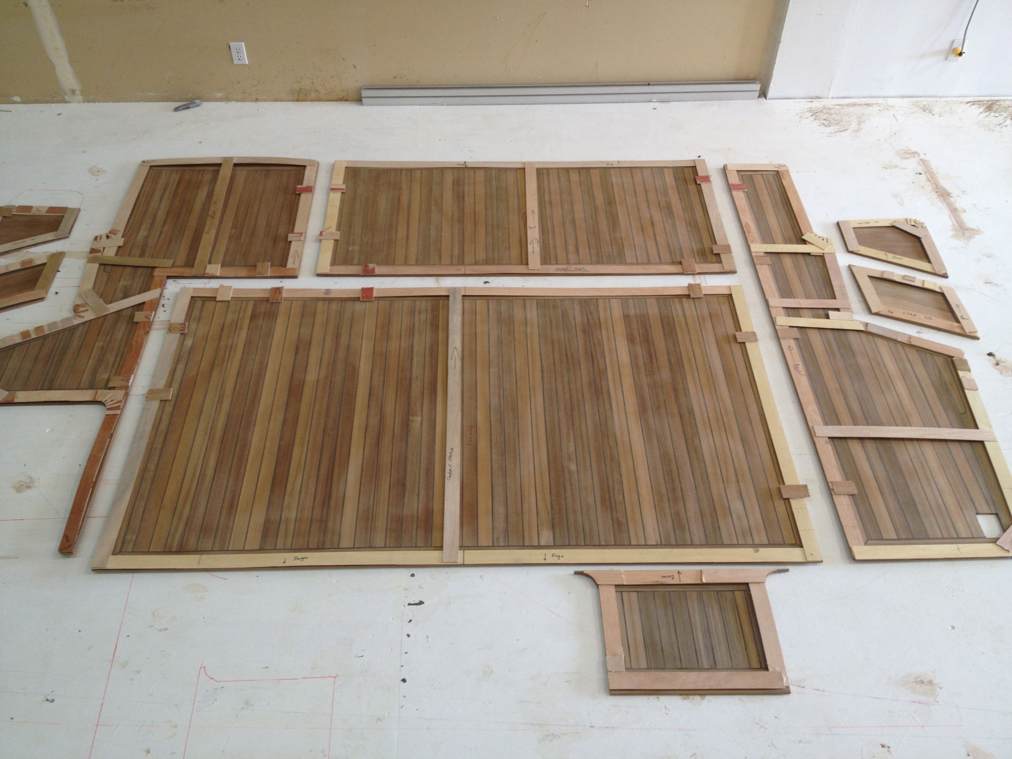 Decking Panels Custom Teak Decking Panels Pre Cut Pre Trimmed To Size Ready