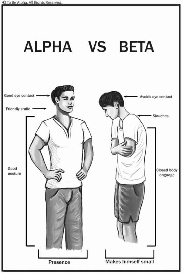 Alpha male body posture