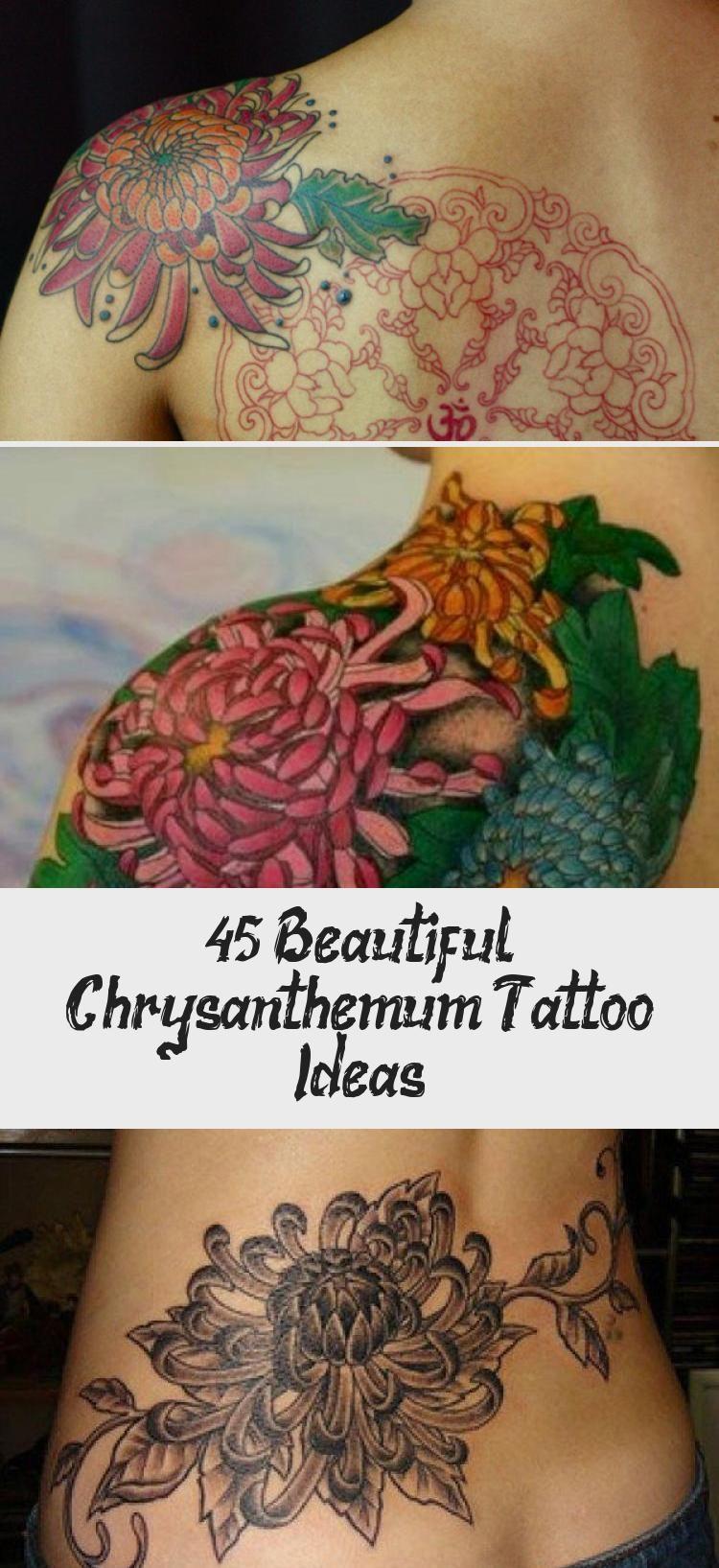 Chrysanthemum Shoulder Tattoo - 45 Beautiful Chrysanthemum Tattoo Ideas <3 <3