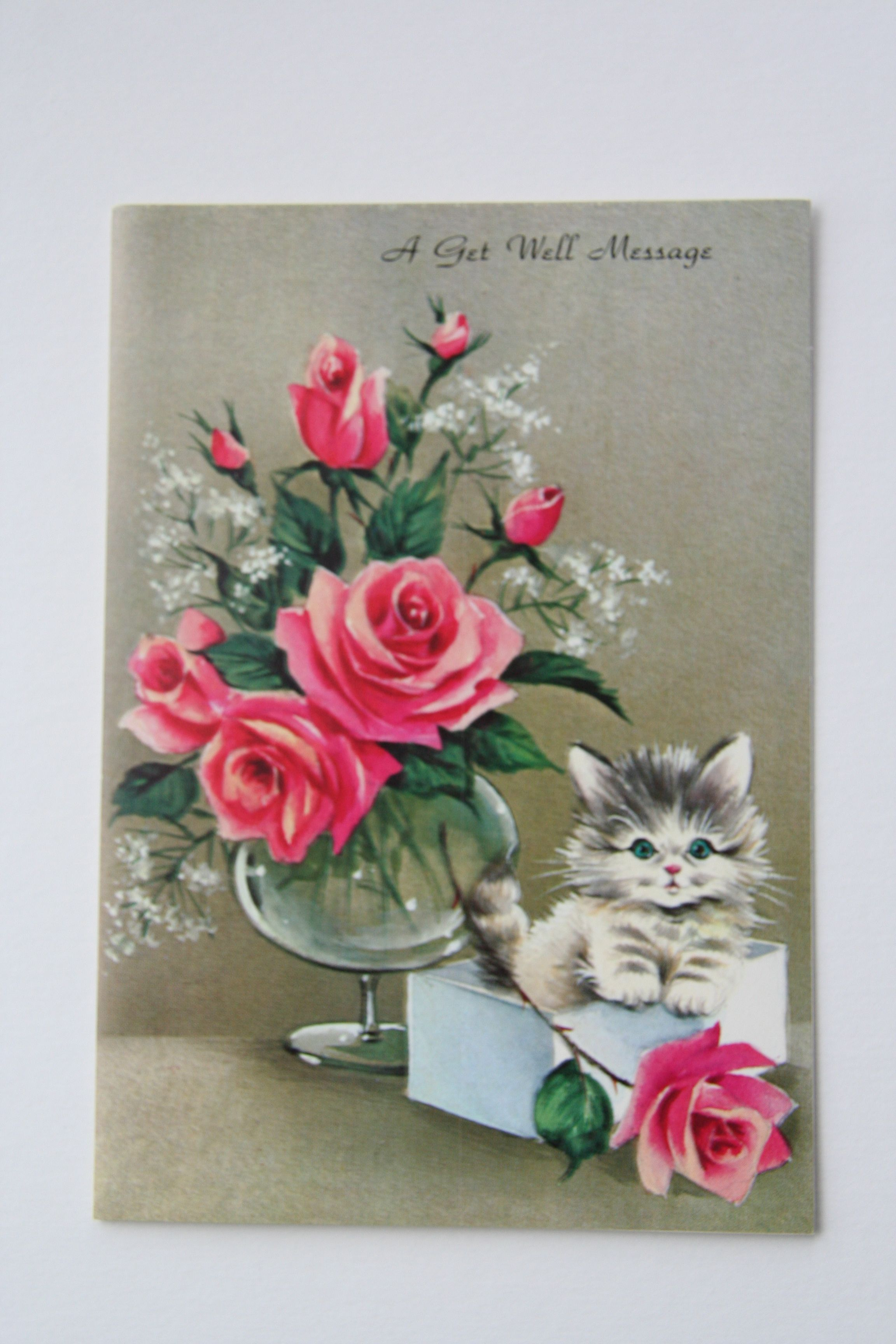 Sweet Vintage Get Well Card I Found At Value Village Made By