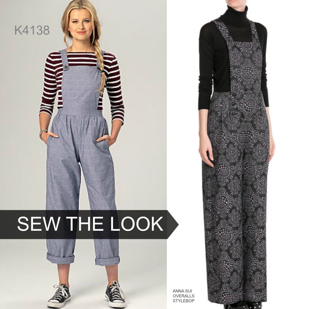 643641c16a5be4 ... Pattern Misses  Overall Jumper and Jumpsuit. Sew the Look  Overalls for  fall! This is Kwik Sew K4138.