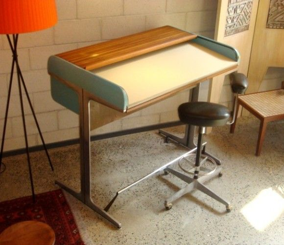 Pin By Gerard Silva On Office George Nelson Desk Desk Vintage House