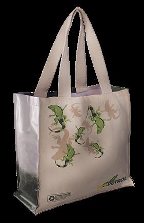 17f75f888 Bolsa ecológica Eco 16 Eco bolsa de mano en lona algodón crudo, fuelles de  banner publicitario reciclado, manijas de algodón tejido o polyester de  color.