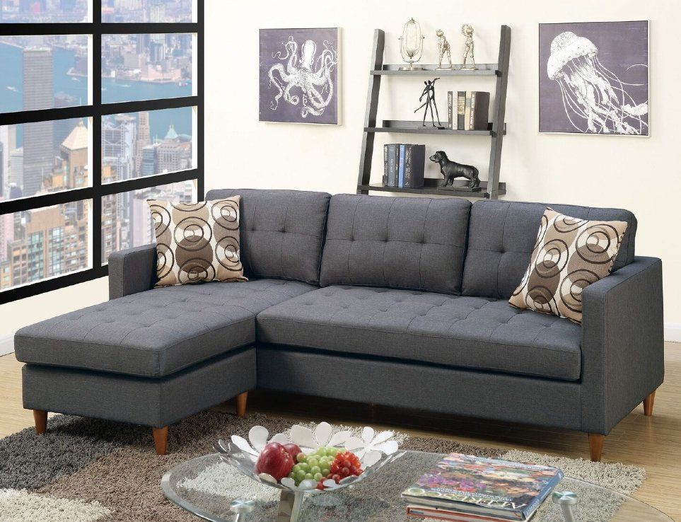 Camden Right Hand Facing Sectional With Ottoman Sectional Sofa Grey Sectional Sofa Tufted Sectional Sofa