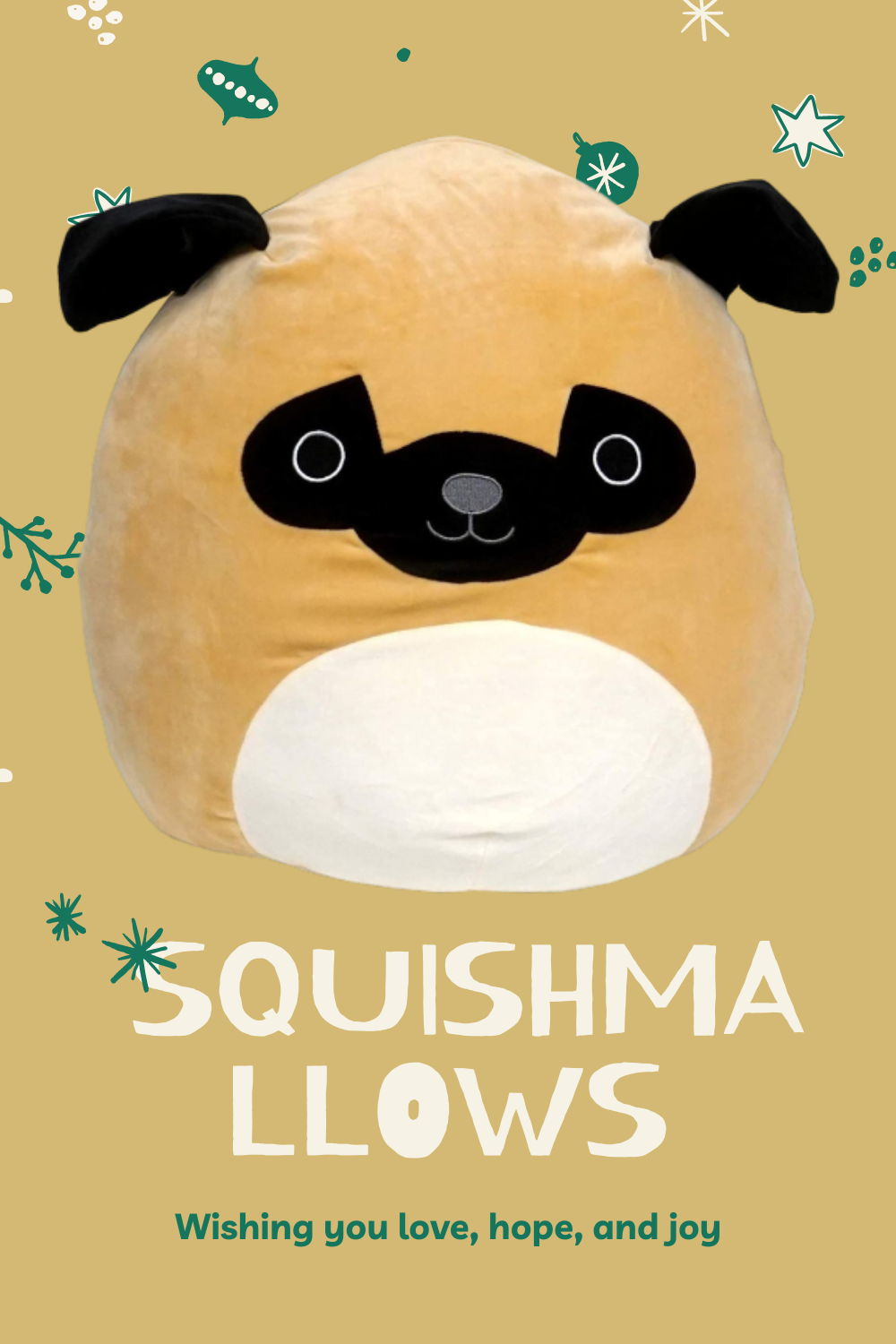 Squishmallow Prince Pug Extra Large Dog 16 In 2020 Pugs Large Dogs Dogs
