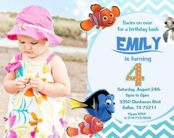Finding Nemo Invitation Birthday Party Invites Printable Ticket