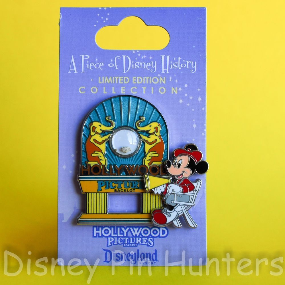 Piece Of #Disney History #DCA Hollywood Pictures Backlot DLR w #MickeyMouse LE #DisneyPin