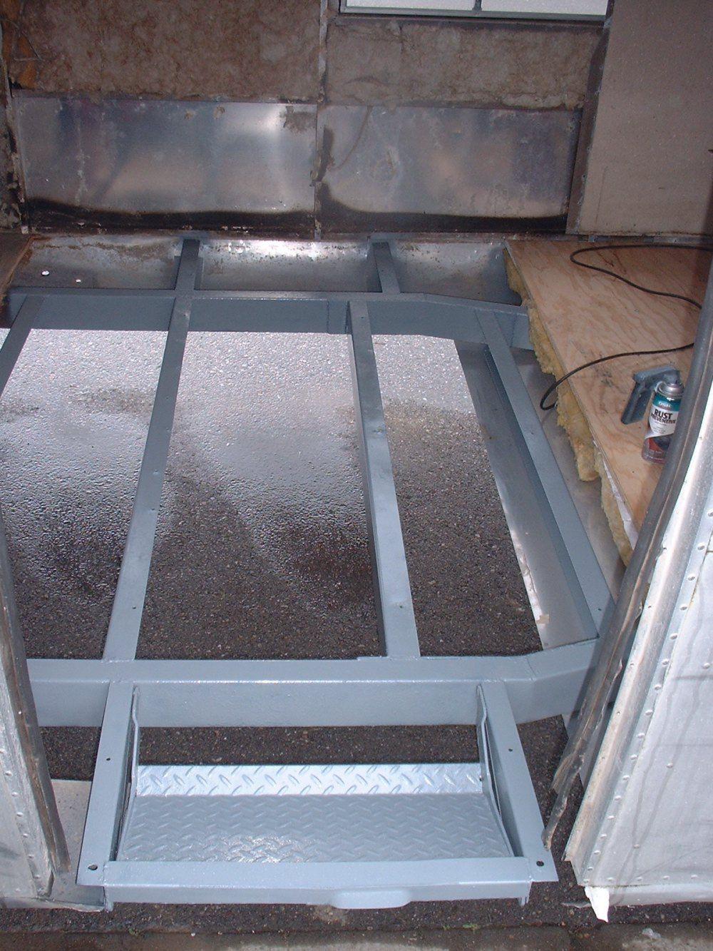 Floor replacement vintage airstream argosy remodel - Airstream replacement interior panels ...