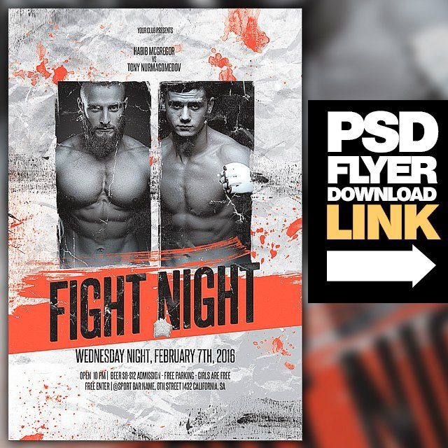 MMA   Fight Night   Boxing Fight Flyer   UFC Boxing fight and - ufc flyer template