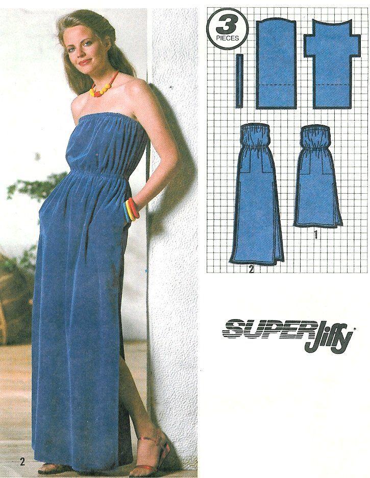 strapless dress sewing pattern sz 1416 long short beach