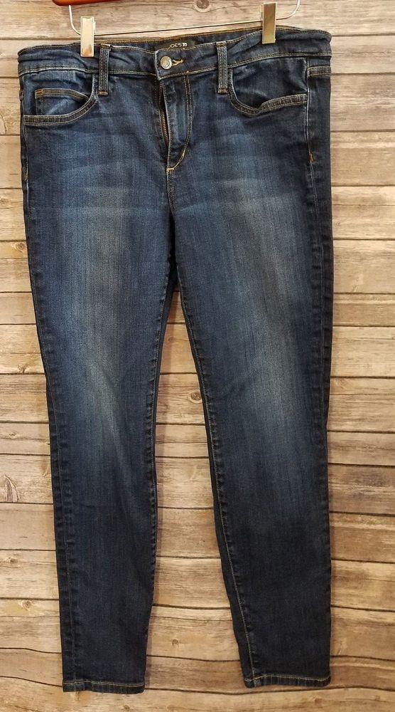 f2fcc429 Joe's Jeans Skinny Ankle Womens Size 31 Stretch Denim Rikki #JoesJeans # SlimSkinny
