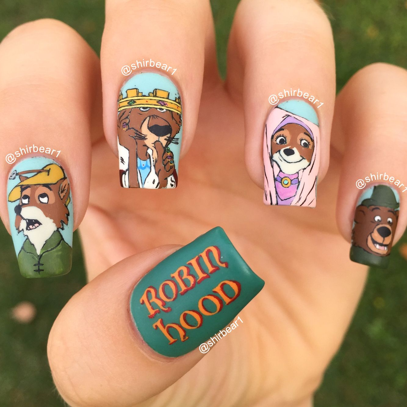 Robin Hood nail art, for more nail arts follow me on instagram and ...