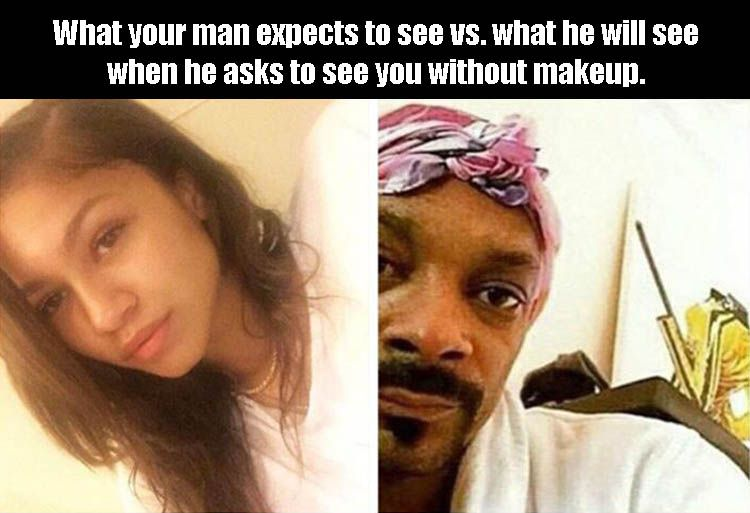 Funny Pictures Of The Day - 38 Pics No Makeup Quotes, Makeup Vs No Makeup