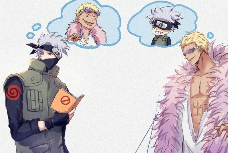 One Piece, Crossover, Naruto, Kakashi, Doflamingo