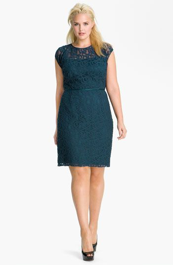Adrianna Papell Soutache Illusion Bodice Dress (Plus) available at #Nordstrom #plussize #fatshion