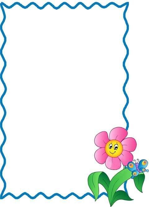 Borde Con Flor Printable Moldura Escolar Moldura Infantil E