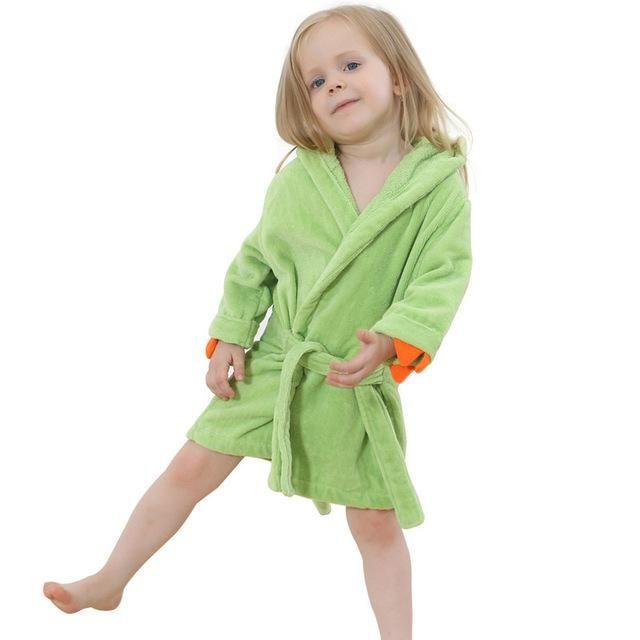Children Cartoon Robes Animal Sleepwear for 0-8 Years Boys Girls Flannel Pajamas  Baby Bathrobe kids Home wear Romper 358f5f4c1