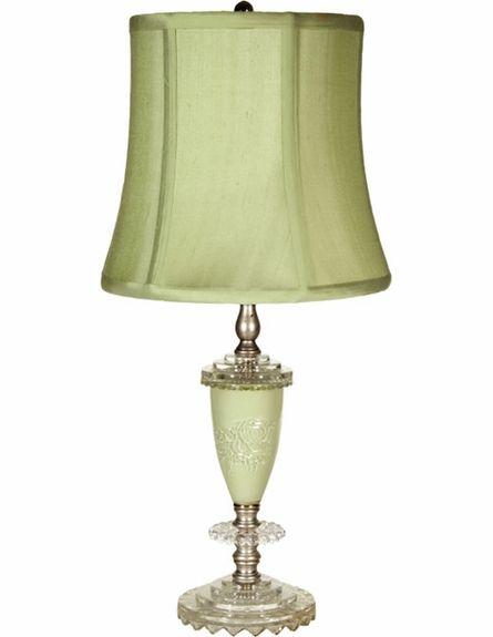 Small Sage Rose Lamp