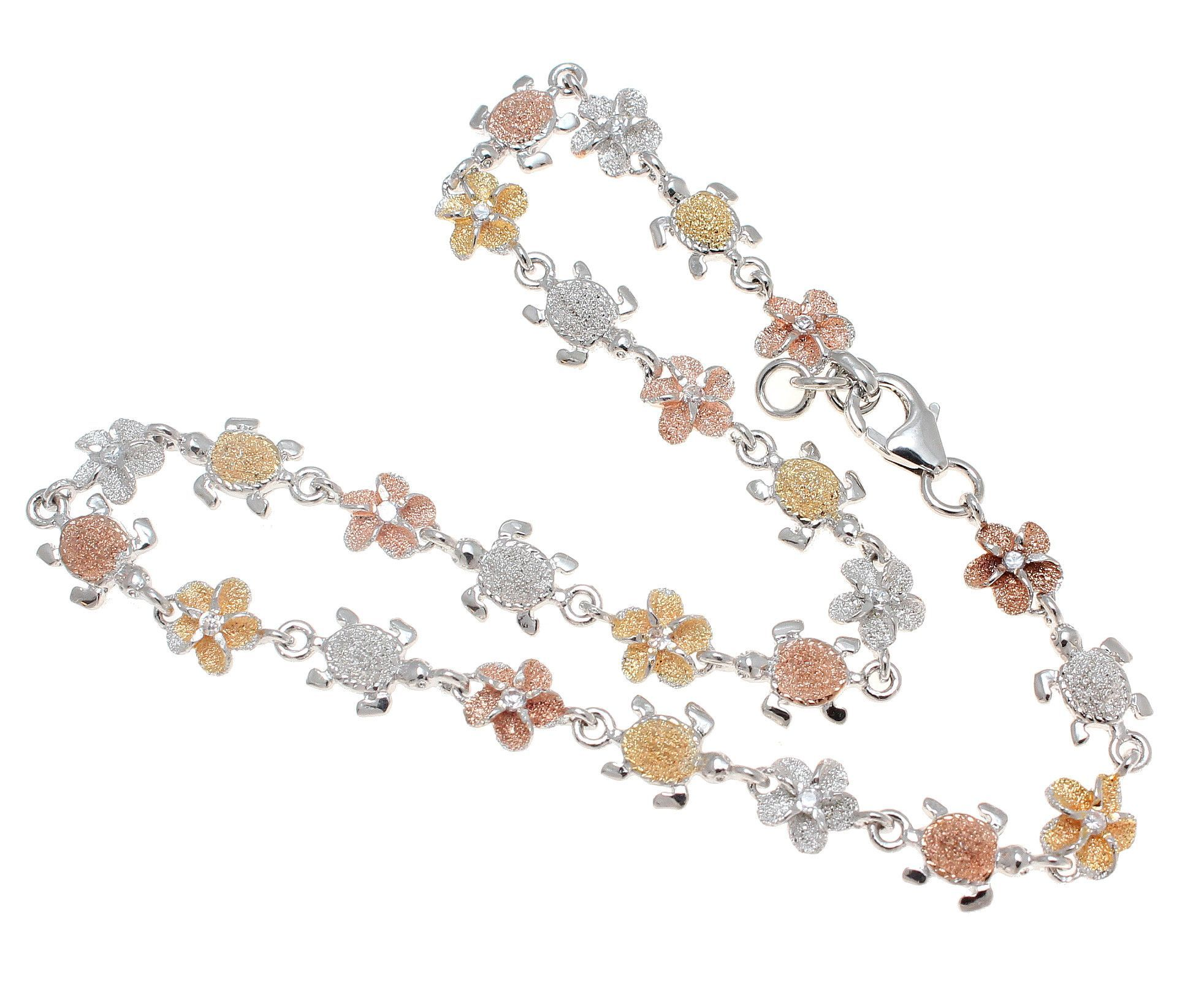 plumeria jewelry anklet hawaiian s pendant white diamond in hawaii flower with gold collections online shop