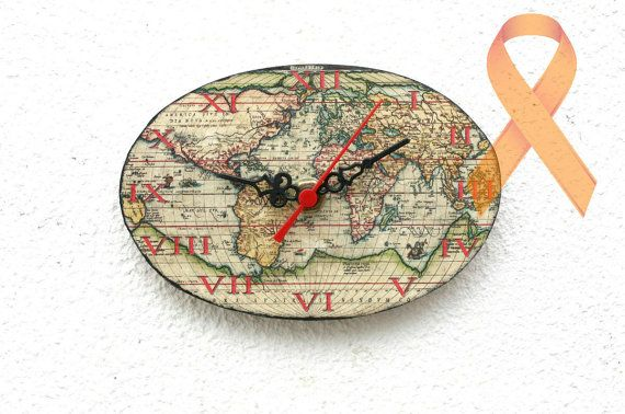World map wooden clock magnetic clock vintage by myhouseofdreams world map wooden clock magnetic clock vintage by myhouseofdreams 2100 gumiabroncs Images