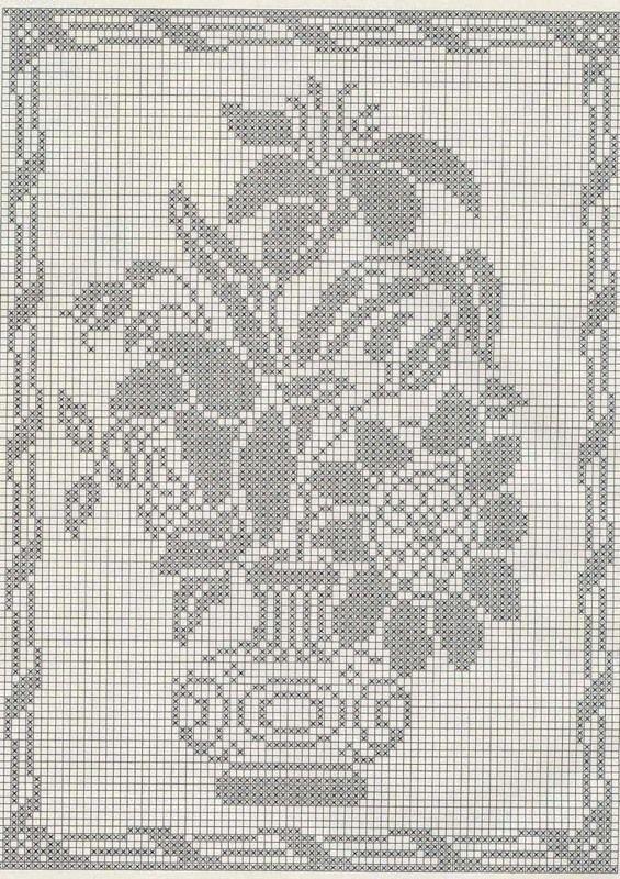 Filet Crochet Single Color Embroidery Crochet Ideas