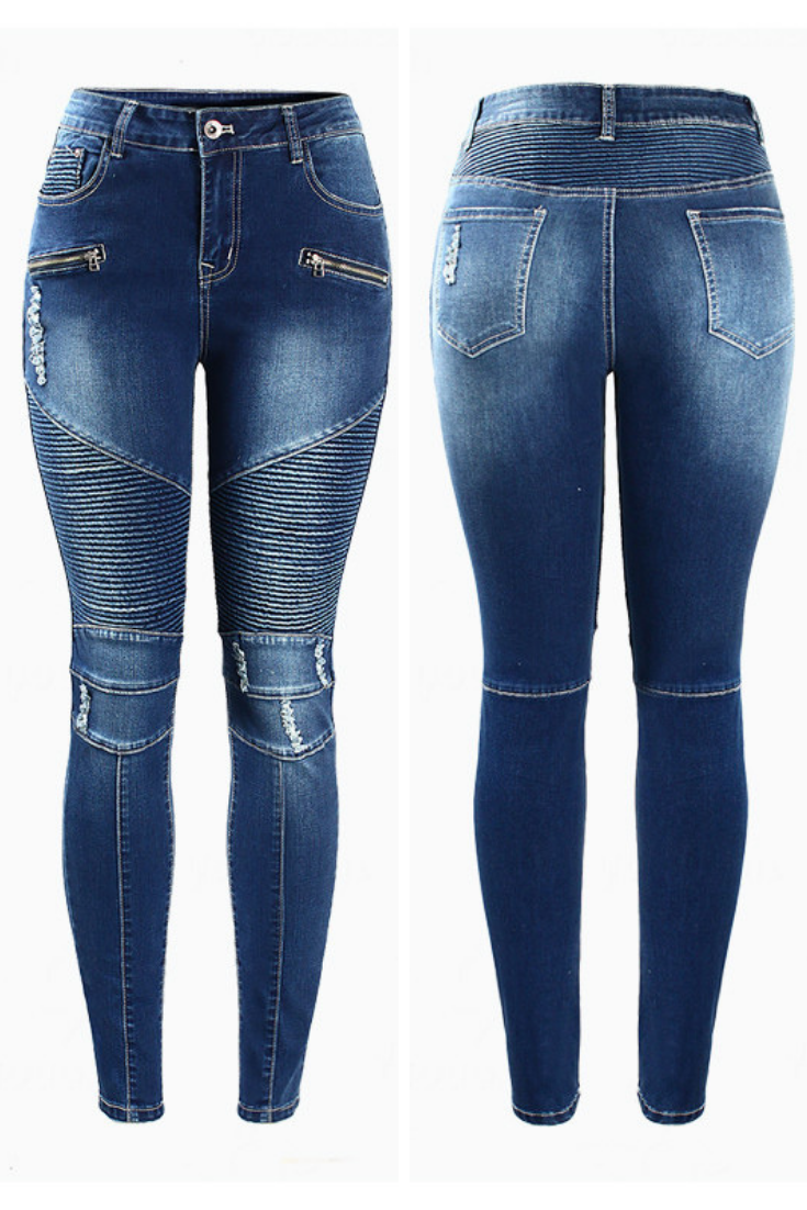 6857c58b2028e2 WOMENS MOTORCYCLE FASHION SKINNY JEANS | BIKER JEANS WOMENS - Need a new  pair of women's biker jeans for the season? Finish off any motorcycle  fashion ...