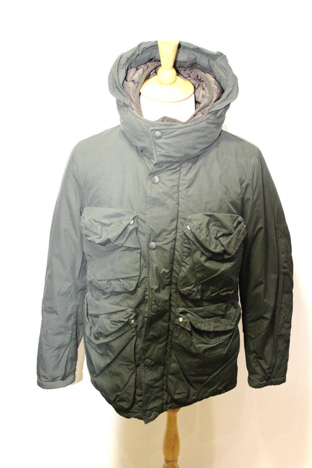 nemen made in italy green warm jacket multipocket smock