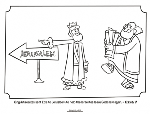 Kids Coloring Page From Whats In The Bible Featuring Ezra