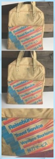 1970s American Express canvas carry on bag Vintage 70s American Express Travel S br 1970s