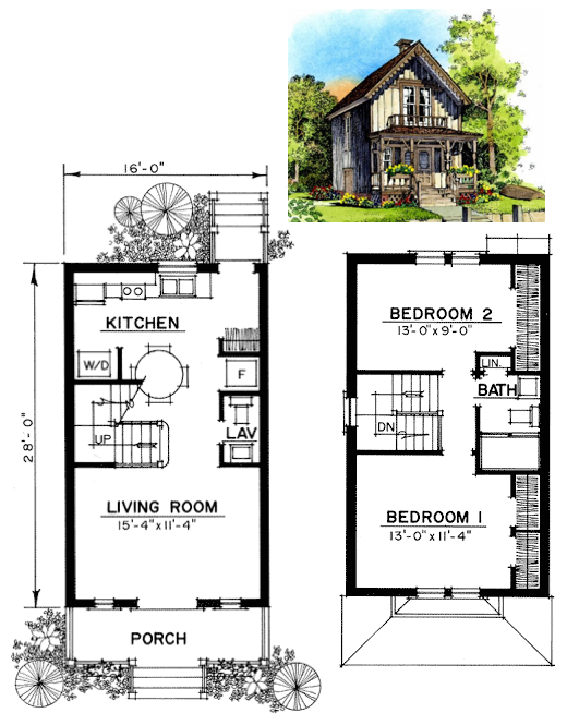 16 X 28 Tiny House Floor Plans Barn House Plans House Plans